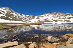 Lac summit Photo libre de droits