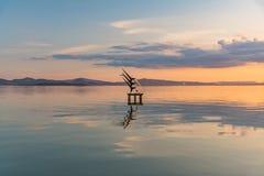 Lac sunset Photographie stock libre de droits