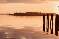Lac sunset Images stock