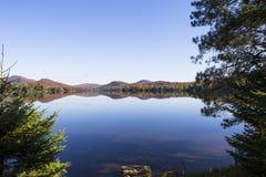 Lac-Superieur, Mont-tremblant, Квебек, Канада Стоковое Изображение