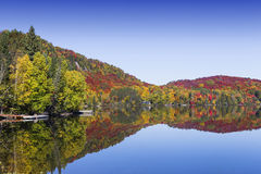 Lac-Superieur, Mont-tremblant, Квебек, Канада Стоковые Изображения