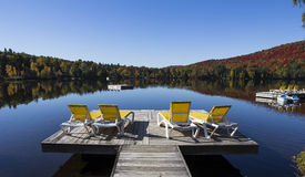 Lac-Superieur, Mont-tremblant, Quebec, Canada Royalty Free Stock Photography