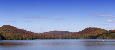 Lac-Superieur, Mont-tremblant, Quebec, Canada. View of the Lac-Superieur, in Laurentides, Mont-tremblant, Quebec, Canada, during indian summer Stock Photo