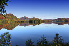 Lac-Superieur, Mont-tremblant, Quebec, Canada. View of the Lac-Superieur, in Laurentides, Mont-tremblant, Quebec, Canada, during indian summer Stock Images