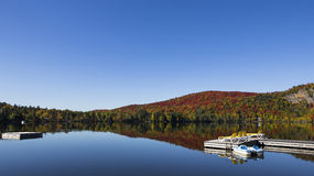 Lac-Superieur, Mont-tremblant, Quebec, Canada. View of the Lac-Superieur, in Laurentides, Mont-tremblant, Quebec, Canada, during indian summer Royalty Free Stock Photos