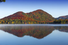 Lac-Superieur, Mont-tremblant, Quebec, Canada. View of the Lac-Superieur, in Laurentides, Mont-tremblant, Quebec, Canada, during indian summer Royalty Free Stock Image