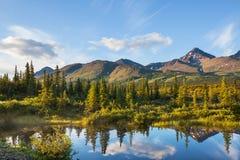 Lac sur l'Alaska Photos stock