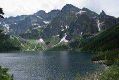 Lac sur la montagne Photo libre de droits