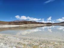 Lac sur le ciel Images libres de droits