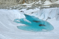 Lac sur le glacier Photo stock