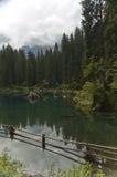 Lac sur les dolomites Photos stock