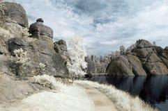 Lac sylvain dans l'infrarouge Image libre de droits