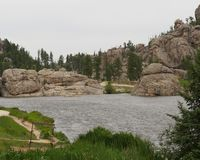 Lac sylvain, stationnement d'?tat de Custer photo stock