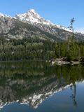 Lac Taggart, Teton grand photographie stock