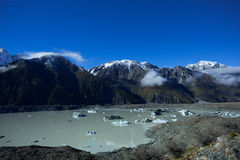 Lac Tasman d'Aoraki Mt cuisinier Images libres de droits
