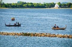 Lac Taungthaman Photos libres de droits