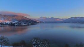Lac Tegernsee en hiver, Bavière, Allemagne clips vidéos