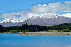 Lac Tekapo, Nouvelle-Zélande Images stock