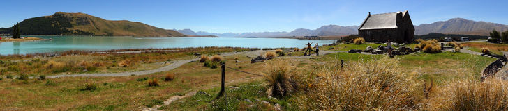 Lac Tekapo, Nouvelle Zélande Photo stock