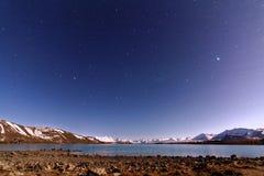 Lac Tekapo, Nouvelle Zélande Images libres de droits