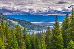 Lac Tetons grand string photographie stock