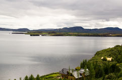 Lac Thingvallavatn en Islande Photos stock