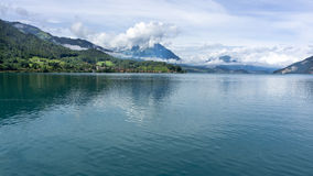 Lac Thun - Suisse Image stock