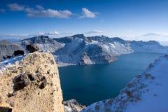 Lac Tianchi dans la montagne de Changbai Image libre de droits