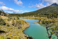 Lac, Tierra del Fuego National Park, Ushuaia, Argentine image stock