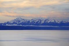 Lac Titicaca comme vu d'Isla del Sol photo libre de droits