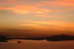 Lac Titicaca sur le coucher du soleil #3 Images libres de droits