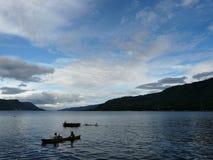 Lac Toba Indonésie Photographie stock libre de droits