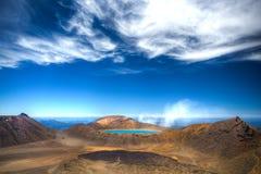 Lac Tongariro bleu en Nouvelle Zélande Images libres de droits
