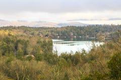 Lac Toxaway à partir du dessus de montagne Photos libres de droits