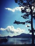 Lac Toya Landscape hokkaido images libres de droits