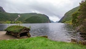 Lac très beau de paysage en Norvège photos libres de droits