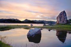 Lac tranquille Aha Photo libre de droits
