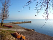 Lac Trasimeno, Italie Photos stock