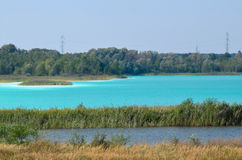 Lac turquoise image stock