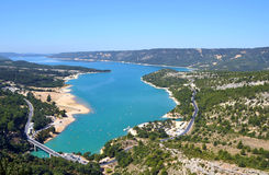 Lac turquoise de Verdon Photo stock