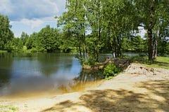 Lac urbain dans la ville d'Arzamas Photos stock