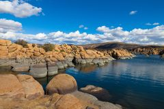 Lac Vallon-Watson d'AZ-Granit Images libres de droits