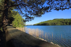 Lac Vattern en Suède Photos libres de droits