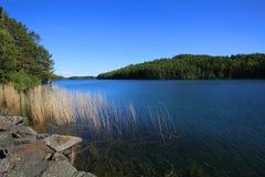 Lac Vattern en Suède Image stock