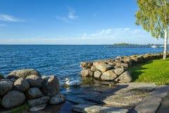 Lac Vattern, Suède Photo libre de droits