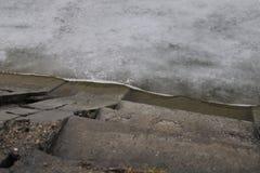 Lac Velence dans l'hiver photos libres de droits