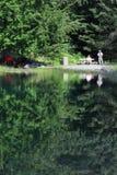 Lac Vert au pied de Mont Blanc, France Photo libre de droits