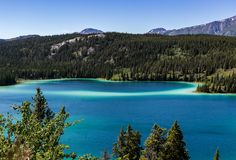 Lac vert canada Photo stock