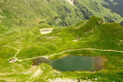 Lac Vert, Valais, Switzerland. Scenic view in the Swiss Alps ,Portes du Soleil region touristic royalty free stock image