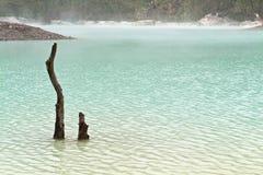 Lac volcanique crater Images libres de droits
